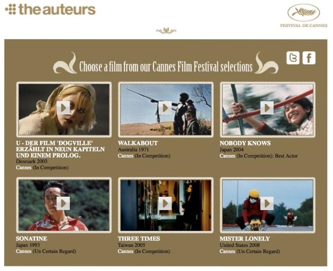 Filme aus Cannes kostenlos online bei The Auteurs