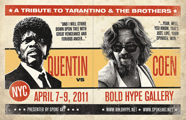 Quentin vs. Coens Art Show