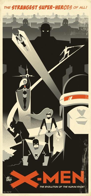 X-Men Retro-Poster