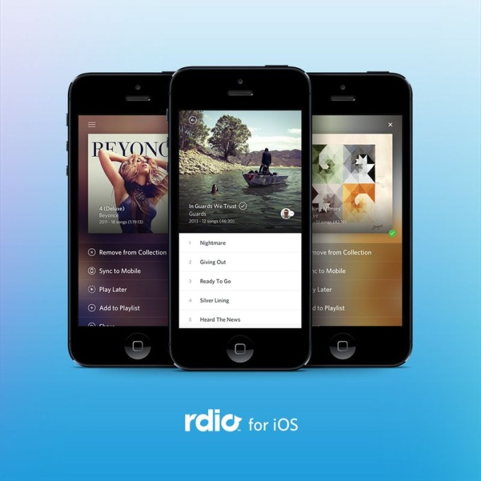 rdio for iOS