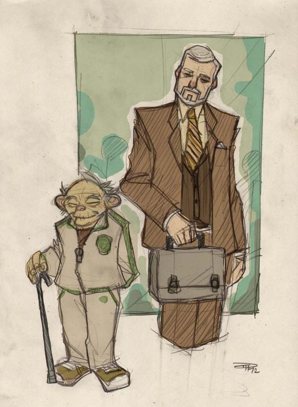 Star Wars Highschool - Yoda and Obiwan