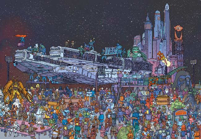 Wired Star Wars Wimmelbild
