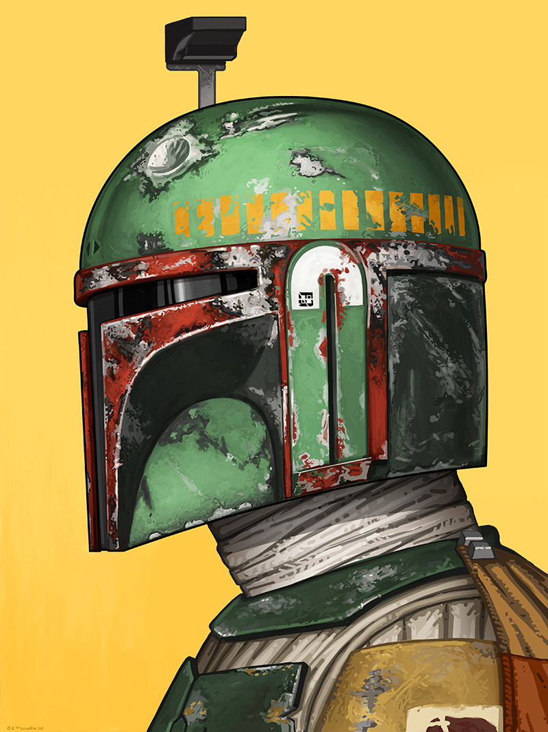 Boba Fett by Mike Mitchell for Mondo